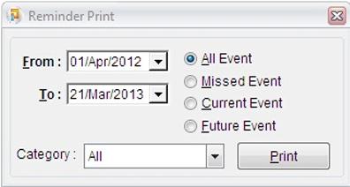 Print Reminders